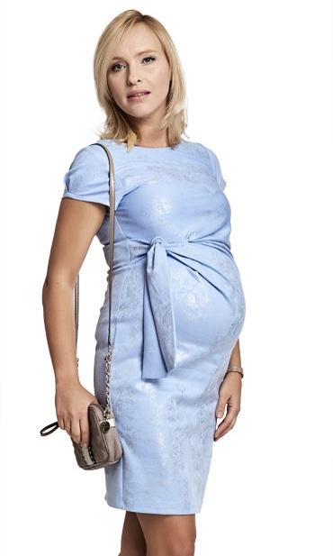 Robe de grossesse - bleu métallic