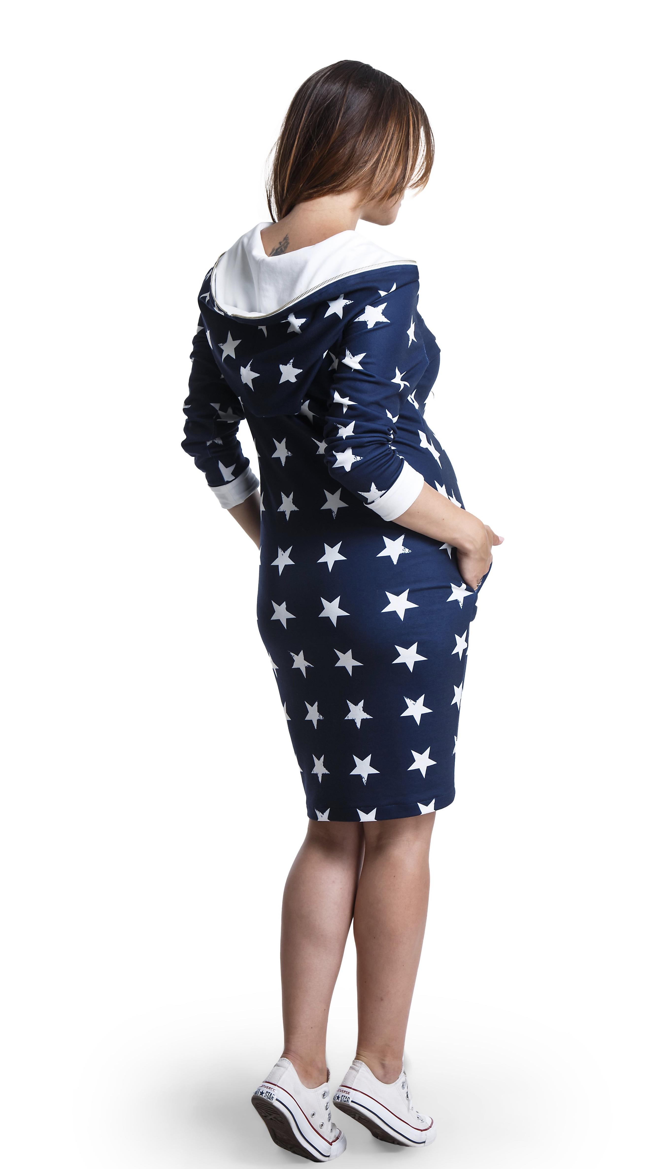 Robe bleue à imprimés étoiles