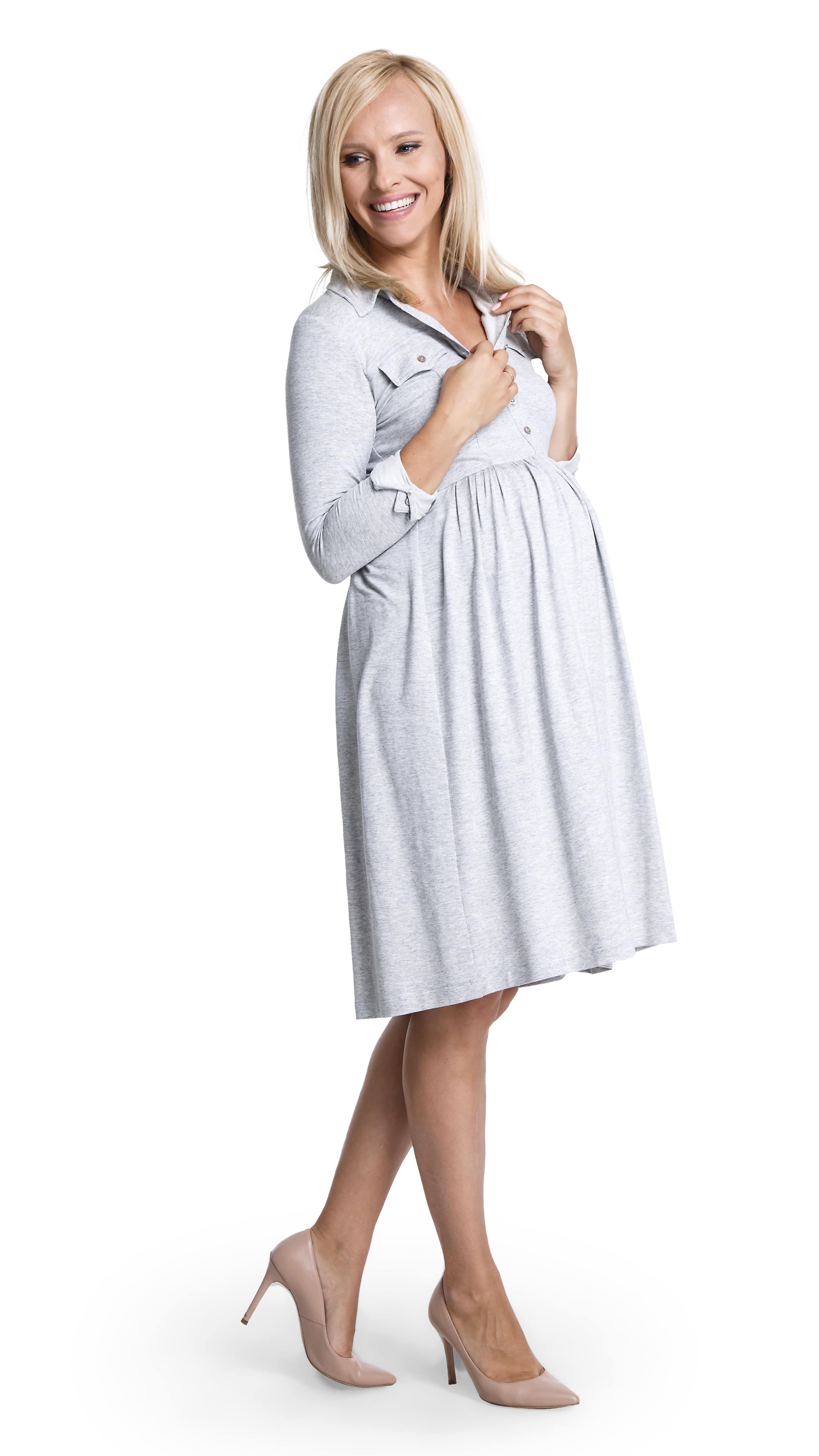 Robe de grossesse grise Levina